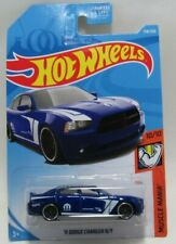 HotWheels Muscle Mania 10/10 Blue '11 Dodge Charger R/T 158/250 Mattel 3+