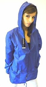 New Waterproof Kagoule Raincoat Mac Blue Sizes S M L XL XXL XXXL