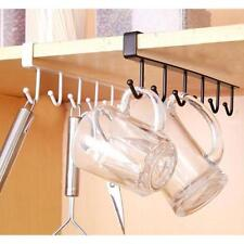 Hooks Cabinet Mug Tea Shelf Cup Storage rack Holder Hanger Hook Organizer DB