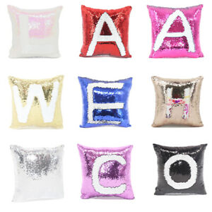13 Colors 3D Sublimation Blank Reversible Mermaid Pillows Sequin Cover Glitter