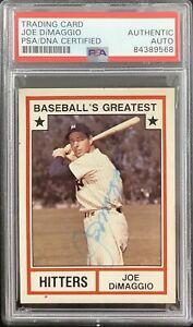 Joe DiMaggio Signed 1982 TCMA #3 Baseball Card NY Yankees Autograph HOF PSA/DNA