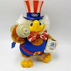 """Sam Eagle Olympic Plush Barbell Weightlifting Los Angeles 1984 10"""""""