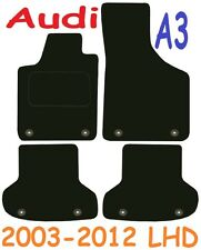 Audi a3 Left Hand Drive Tailored Deluxe Quality Car Mats 2003-2012 Hatchback 3dr