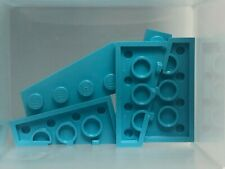 Lego Parts - Medium Azure Wedge Plate 4 x 2 Right - No 41769 - Qty 5
