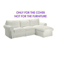 IKEA Ektorp Loveseat with Chaise Sofa Sectional Cover STENASA WHITE 102.727.50