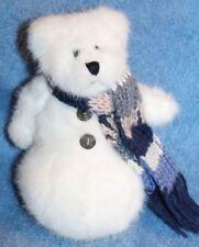 """Boyd's Teddy Bear Snowman with Scarf Moveable Arms 7"""""""