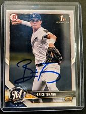 Brice Turang 2018 Bowman1st Bowman Auto Milwaukee Brewers