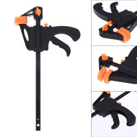 "4"" Durable F Type Woodworking Clip Quick Grip Clamp Heavy Duty Carpenter Tool"