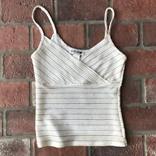 Jaipur Women's Size Small Gold White Camisole Tank Under Shirt