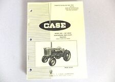 Parts Manual Illustrated Catalog - 430 Case Tractor