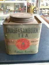 Vintage Half Pound Chase & Sanborn's Tea Tin Japan Green
