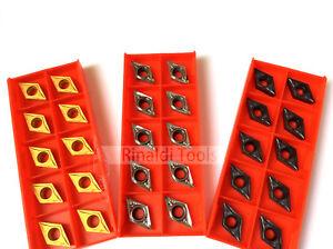 10 x DCGT / DCMT Wendeschneidplatten für ALU, Stahl oder Edelstahlbearbeitung!!