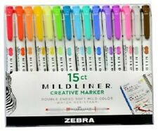 Zebra Mildliner Double-Ended Creative Markers 15-Pack *BNIP*