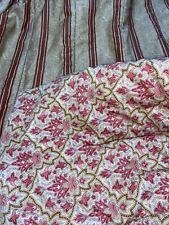 Ralph Lauren Langham Red Paisley Floral King Comforter Bertrand Stripe