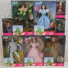 Complete Set Of 8 Wizard of Oz Barbie & Munchkin Dolls 1999 Great Condition NEW
