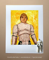 Star Wars LUKE STORMTROOPER Vintage Kenner Action Figure ORIGINAL ART PRINT 3.75