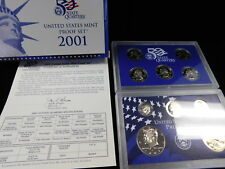 2001S 10 Piece United States Mint Proof Set, NOS