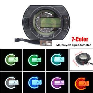 12V Motorcycle LCD Digital Gauge ATV Panel Speedometer Oil Meter Tachometer Part