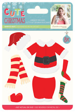 SALE New Sara Davies Metal Cutting Dies Cute Christmas Santa's Suit