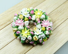 Miniature Dollhouse Mulberry Flower Wreath for Spring or Easter Decoration 1:12