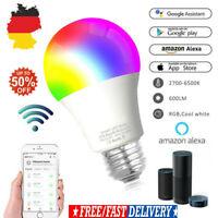 4X 2X LED Smart Glühbirne Licht E27 RGB Birne WiFi Lampe Für Alexa Google Home