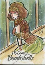 DC Comics Bombshells Sketch Card 1/1 By Luro Hersal
