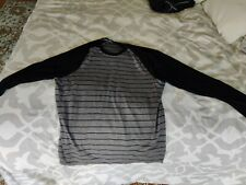 Smartwool men's Black & Gray Crew-Neck Sweater Size XL
