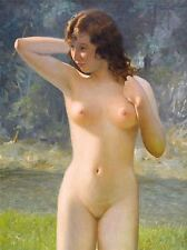 PAINTING WOMAN NATURE NUDE OUTDOOR PORTRAIT ART POSTER PRINT LV2980