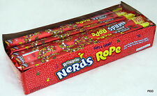 Nerds Rope Rainbow Soft Chewy Gummy Taffy Nerd Candy Ropes Bulk Candies 24 Count