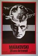 AFFICHE ORIGINALE  - MAÏAKOVSKI - 1976 - Maquette Cieslewicz