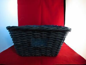 "12"" x 12"" x 6"" Blue Wicker Basket"