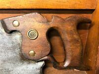 "Disston Jackson ""00"" Crosscut Saw - 7 TPI Handsaw -Rare Jackson Saw"