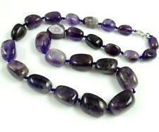 Natural amethyst beads pendant Gemstone Handmade Making Necklace Jewellery