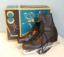 Vintage American Aces Men's Ice Skates Hockey W/ Original Box – Size 8