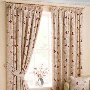 Belfield Furnishings Mariposa Ready Made Cotton Pencil Pleat Curtains