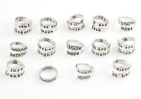 Fashion Letters Family Best Gift Engraved Friendship Finger Opening Ring Jewelry