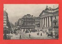 Belgique - BRUXELLES - La Bourse et le boulevard Anspach  (J4541)