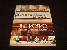 The Verve 1991 ad Richard Ashcroft, Nick McCabe at Times Square 'All Farewells.