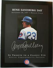 1997 Ryne Sandberg Day Special Commemorative Program Chicago Cubs Wrigley Field