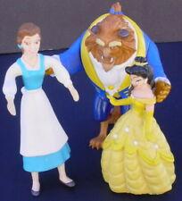 Disney Dancing Princess Belle Peasant + Beast Beauty and the Beast figure Lot