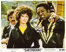 Hand Signed 8x10 photo Lobby Card RICHARD ROUNDTREE in EARTHQUAKE Shaft + my COA