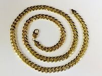 """10k Solid Yellow Gold Miami Cuban Curb Link 20"""" 9 mm 99 grams chain/Necklace"""