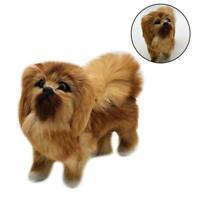 Realistic Simulation Dog Toy Plush Pekingese Toy Doll Animal Stuffed US L1R7