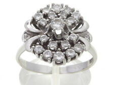 Goldring Ring 585 GOLD 14 Karat Diamanten Brillanten Weißgold bague or blanc oro
