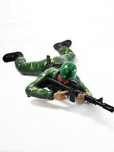 VINTAGE Army Men Toy Soldiers BATTERY OPERATED CRAWLING FORCE Military SOLIDER