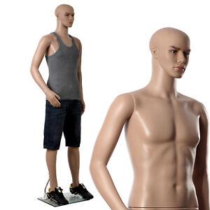 Männliche Schaufensterpuppe Schaufensterfigur Mannequin Puppe 185cm MPGM19
