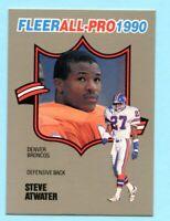 1990 Fleer All-Pro Football  # 21 Steve Atwater -- Broncos -- Box 737