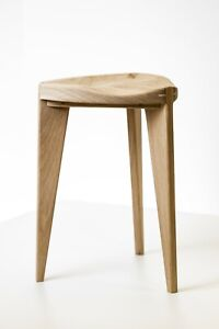 "Oak Stool carved seat, height 45cm - 18"", three legged, Oak Chair, Stool, Chair,"