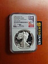 1986 S PROOF SILVER EAGLE NGC PF69 ULTRA CAMEO RARE MERCANTI SIGNED!