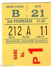 1968 STAN CUP TICKET STUB CHIC BLACKHAWKS @ NEW YORK RANGERS KING ASSASINATION